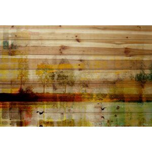 'Orr Lake' by Parvez Taj Painting Print on Natural Pine Wood by Loon Peak