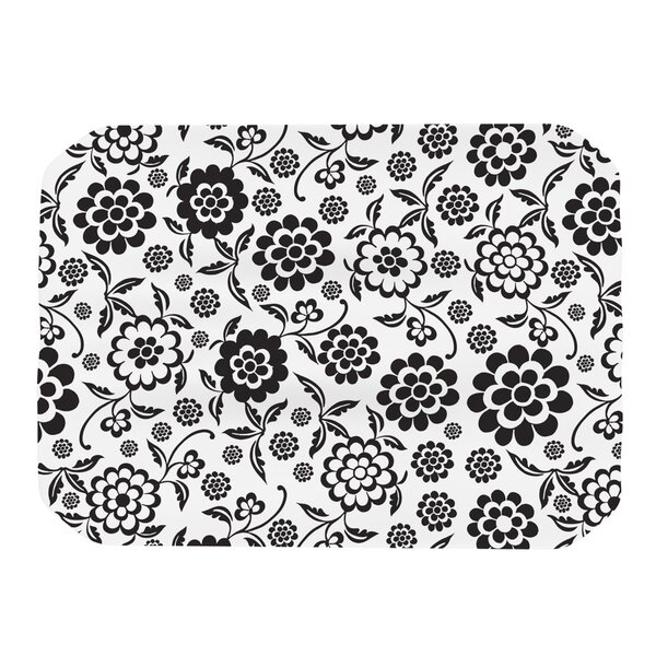 Cherry Floral White Placemat by KESS InHouse