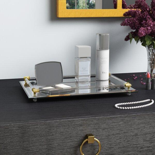 Kiaan 14 x 10 Rectangle Mirror Vanity Tray by Will