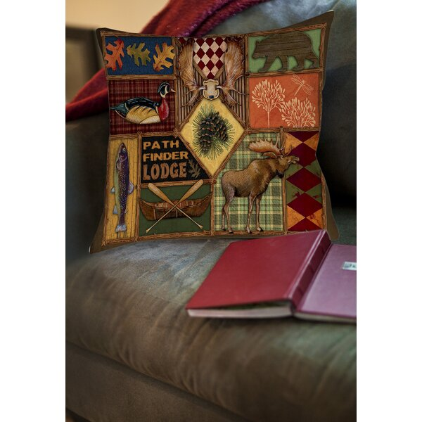 Adamski Printed Throw Pillow by Loon Peak