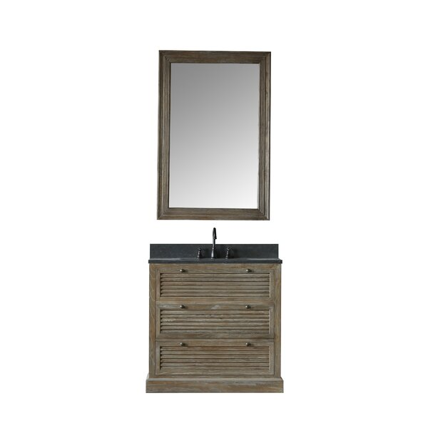 Mackenzie 37 Single Bathroom Vanity Set with Mirror by Millwood Pines