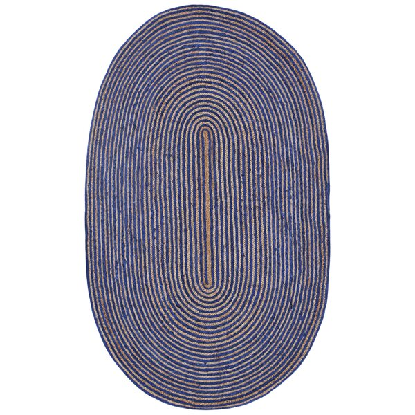 Latour Hand-Loomed Blue Area Rug by August Grove