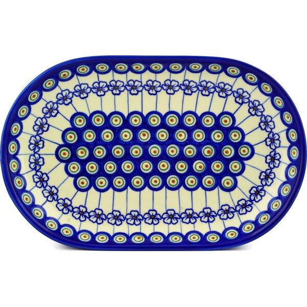 Flowering Peacock Platter by Polmedia