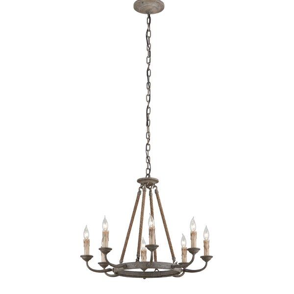 Mildenhall 8-Light Candle Style Wagon Wheel Chandelier By Darby Home Co