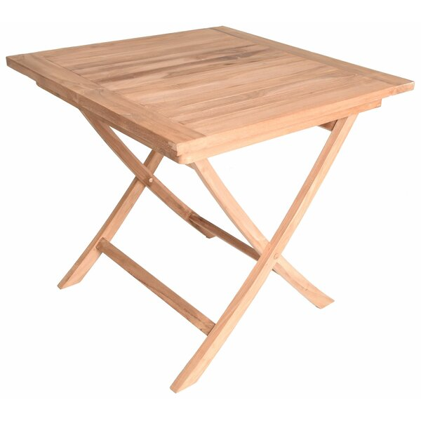 Octavius Square Folding Teak Dining Table by August Grove