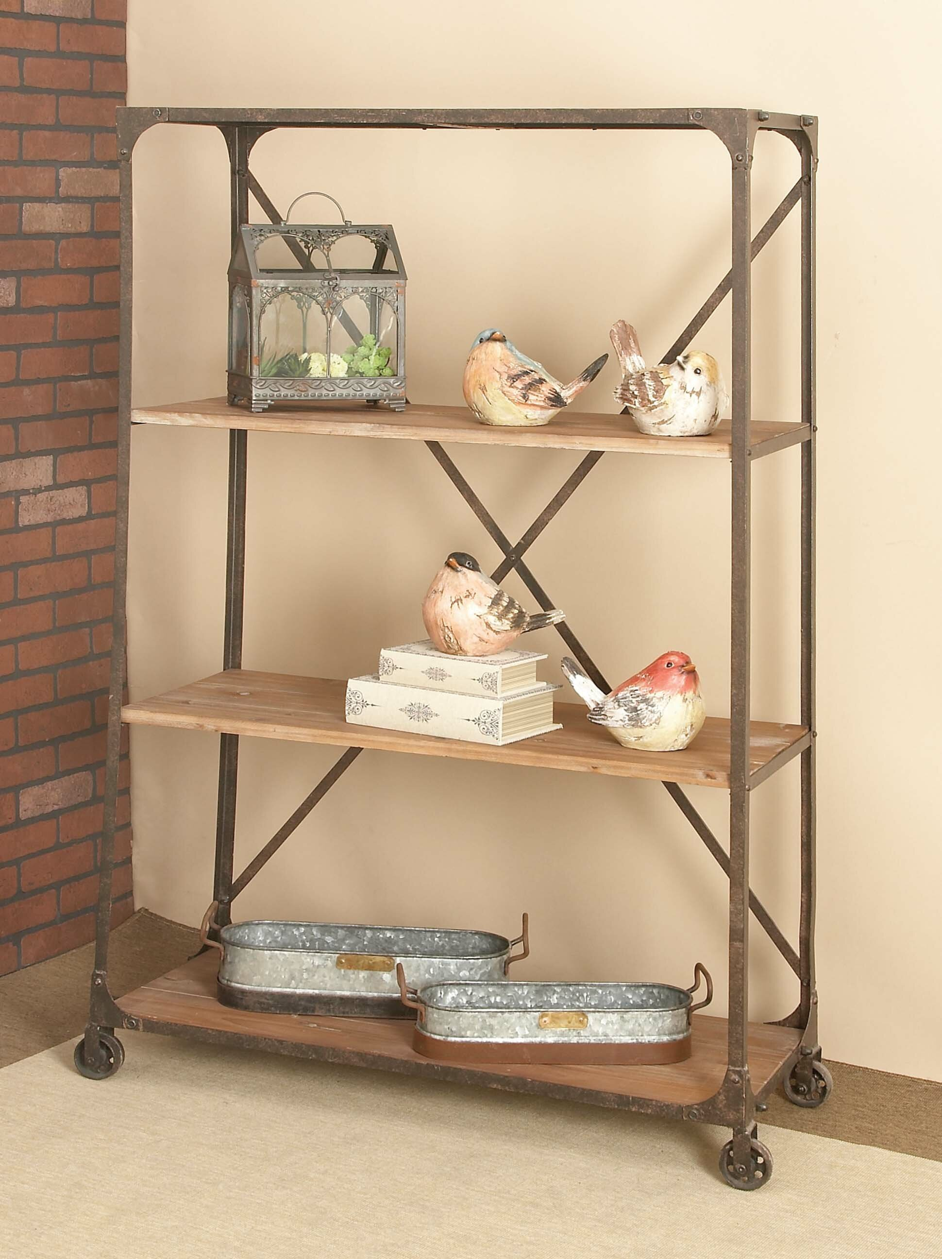 industrial simplified on more pin bookshelf and wheels shelves