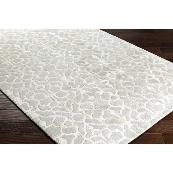 Silvera Hand-Tufted Gray/Neutral Area Rug by Alcott Hill