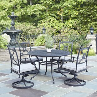 Lansdale 5 Piece Dining Set with Cushions By Darby Home Co