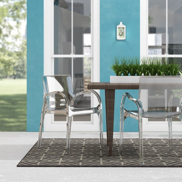 Christiano Stacking Patio Dining Chair (Set of 4) by Wrought Studio