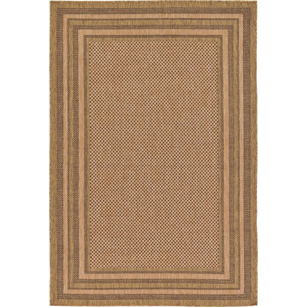 Rockwood Light Brown Outdoor Area Rug by Bay Isle Home