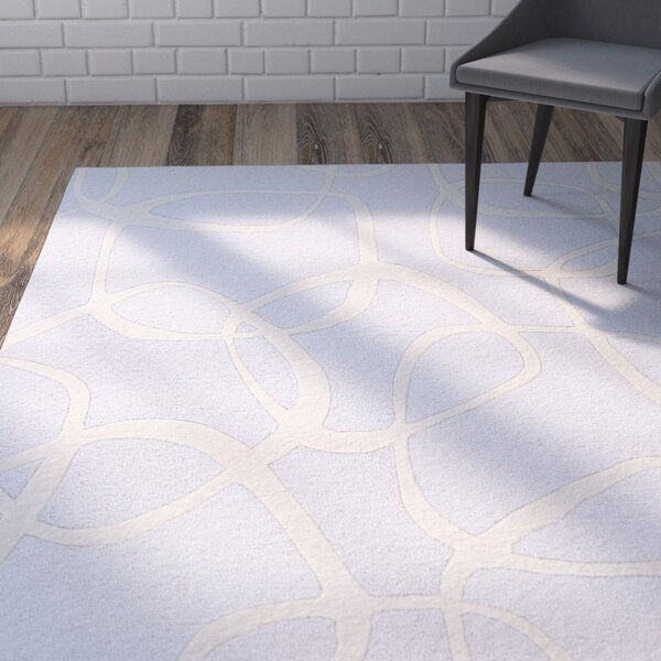 Himes Hand-Tufted Pale Blue/Cream Area Rug by Wrought Studio