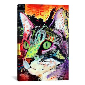 'Curiosity Cat' Graphic Art on Canvas by Viv + Rae