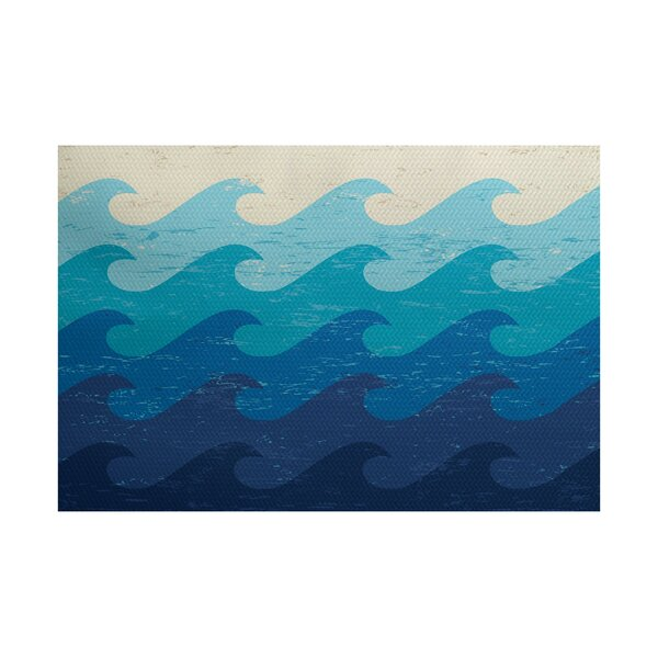 Golden Beach Blue Indoor Area Rug by Bay Isle Home