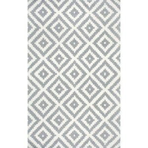 Obadiah Hand Woven Wool Gray Area Rug