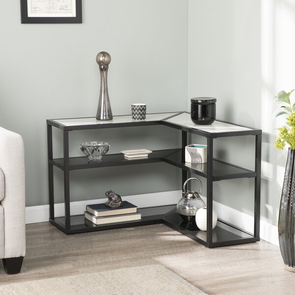 Klima Faux Marble Wrap Around End Table By Ebern Designs
