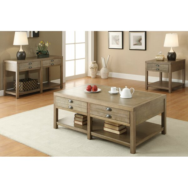 Sunset 3 Piece Coffee Table Set by Three Posts