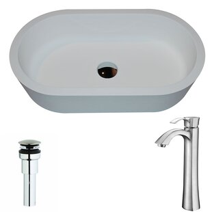 Affordable Price Vaine Stone Oval Vessel Bathroom Sink with Faucet By ANZZI