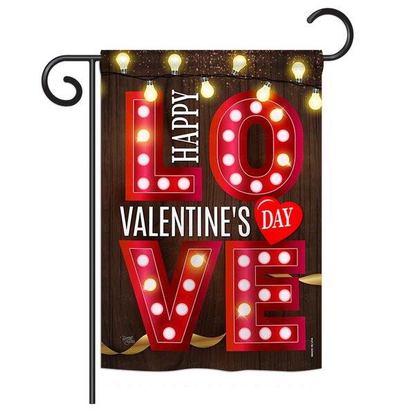 Lightful Valentine Impressions 2-Sided Polyester 1.5 x 1 ft. Garden Flag by Breeze Decor