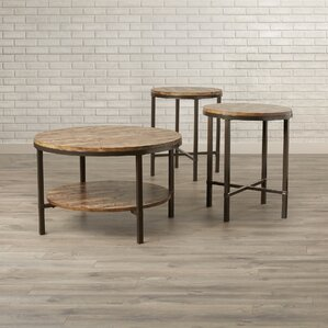 absher 3 pieces coffee table set