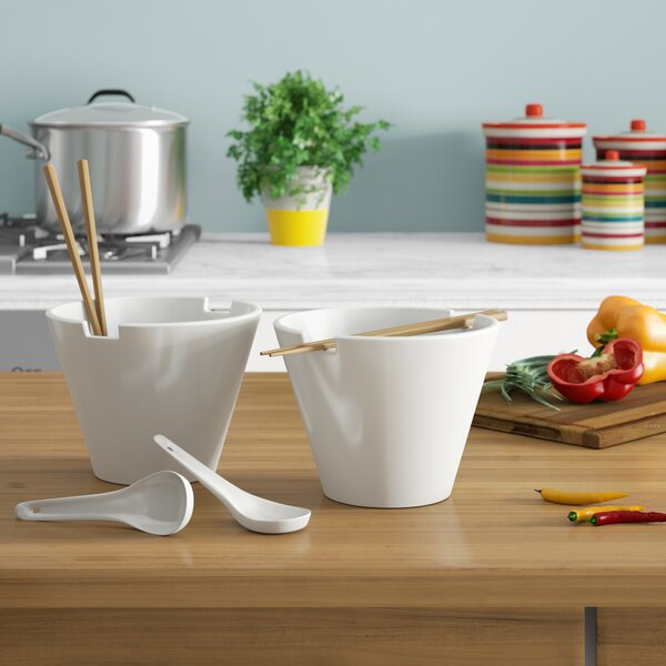 Acheson Noodle Soup Bowl Set by Zipcode Design