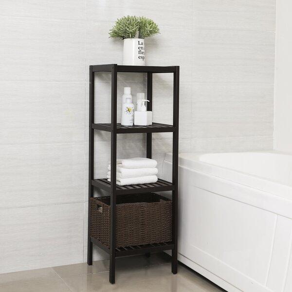 Agustin 100% Bamboo 13'' W x 38.6'' H Bathroom Shelf