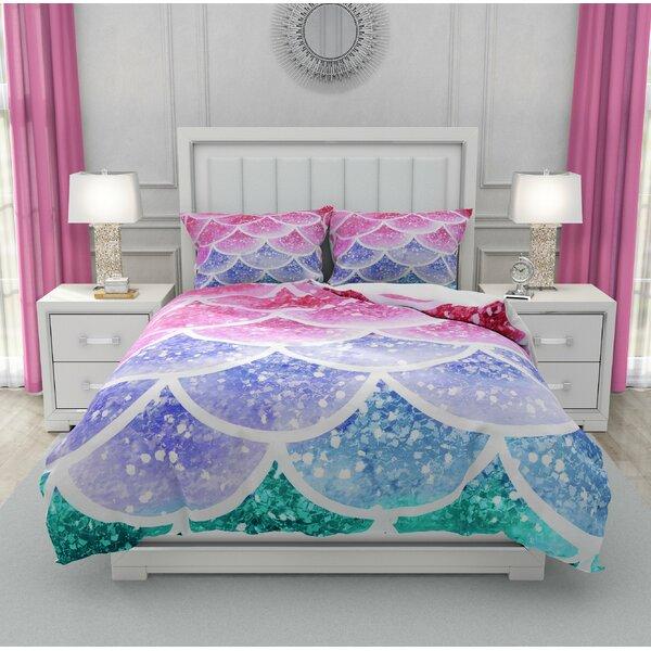 Imane Pastel Mermaid Scales Duvet Cover Set