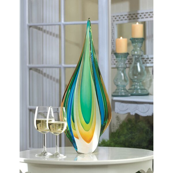 Cool Flame Art Glass Statue by Brayden Studio