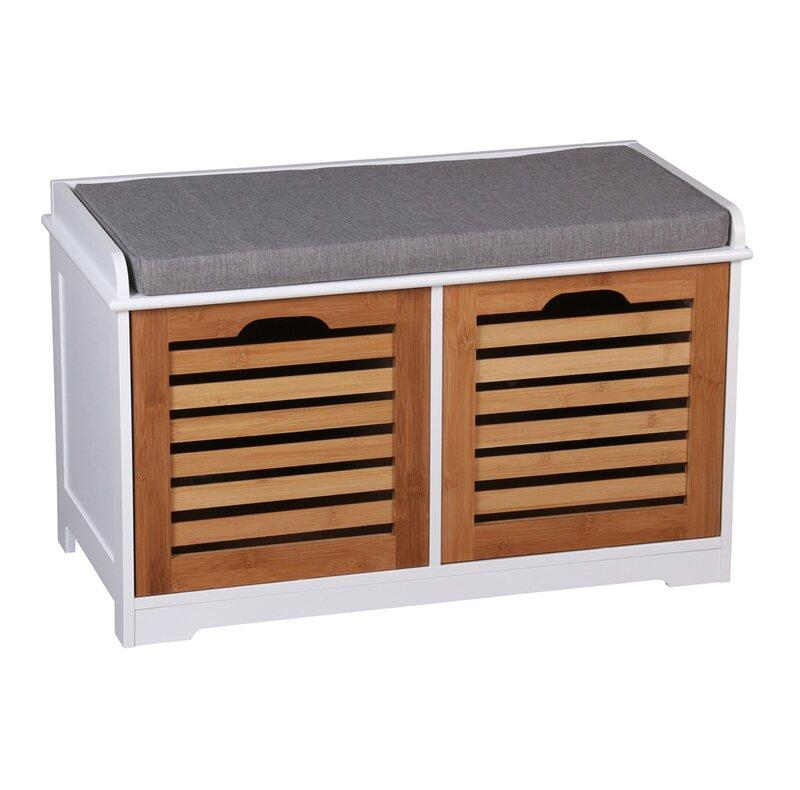 hokku designs gepolsterte sitzbank kendal aus holz mit stauraum bewertungen. Black Bedroom Furniture Sets. Home Design Ideas