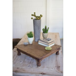 Compare Jacobs Repurposed Antique Wooden Riser End Table By Gracie Oaks