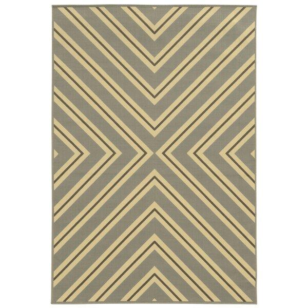 Heath Grey/Ivory Indoor/Outdoor Area Rug by Ebern Designs
