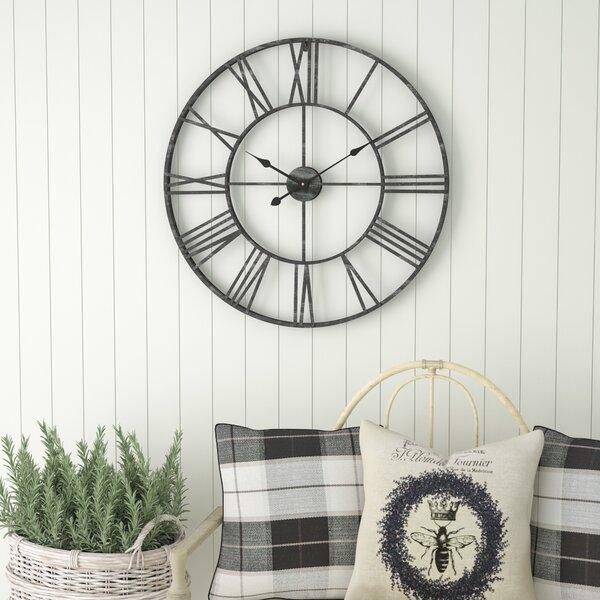 Oversized Eisenhauer 30 Wall Clock by Laurel Foundry Modern Farmhouse