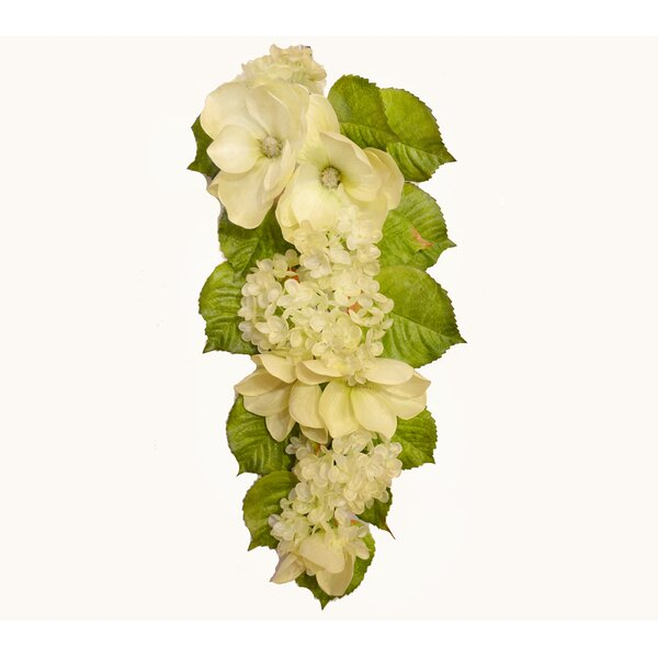 Hydrangea Magnolia Flowers Swag by Floral Home Decor