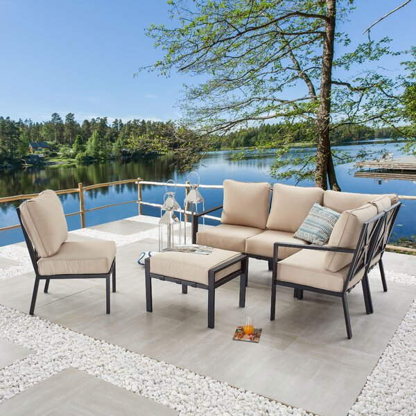 Parfett 6 Piece Sectional Seating Group with Cushions by Red Barrel Studio