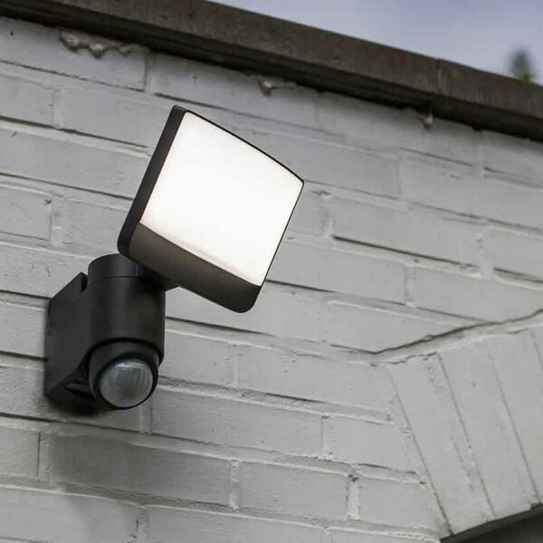 180 Degree Motion Activated Solar Flood Light by Lutec