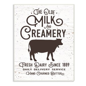Vintage Sign 'The Old Creamery' Textual Art by Stupell Industries
