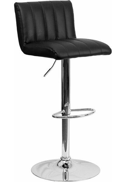 Whelan Low Back Adjustable Height Swivel Bar Stool by Orren Ellis
