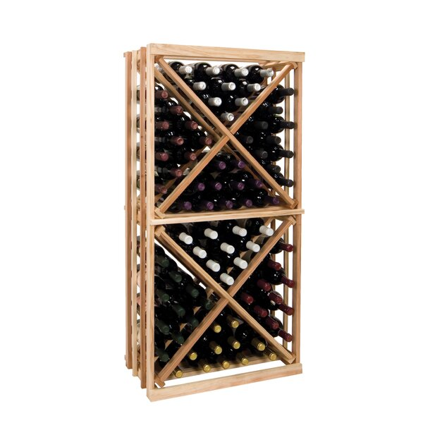 Florian 96 Bottle Floor Wine Bottle Rack by Symple Stuff Symple Stuff