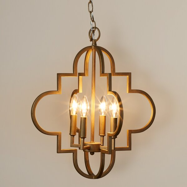 Reidar 4-Light Geometric Chandelier by Willa Arlo Interiors