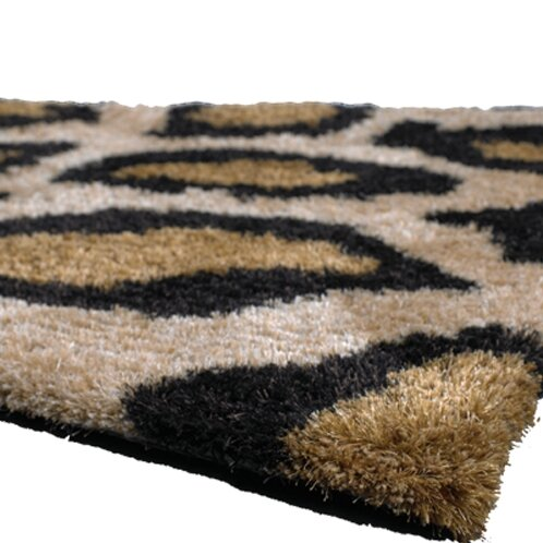 Vanetta Black/Tan Area Rug by Bloomsbury Market