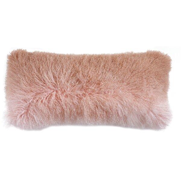 Blucher Mongolian Fur Lumbar Pillow by Rosdorf Park