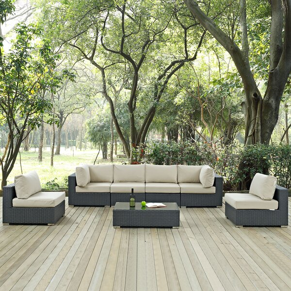 Tripp 7 Piece Sunbrella Sectional Set with Cushions by Brayden Studio