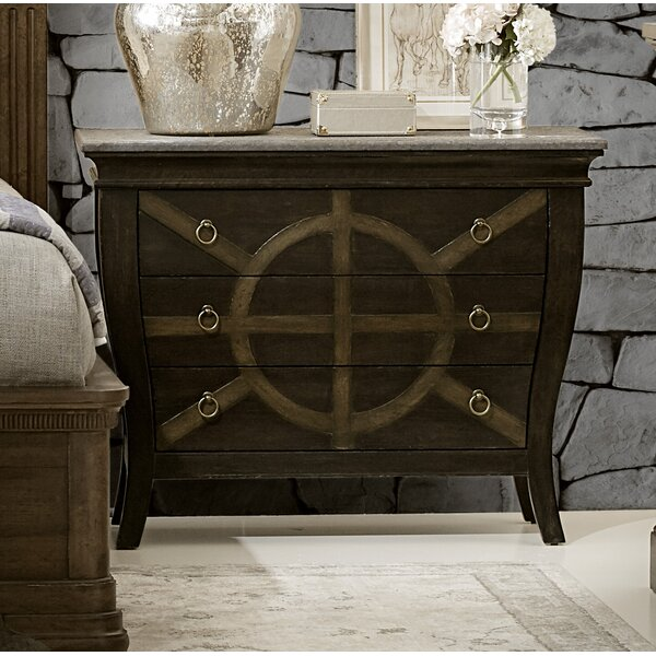 Fredric 3 Drawer Nightstand by Canora Grey