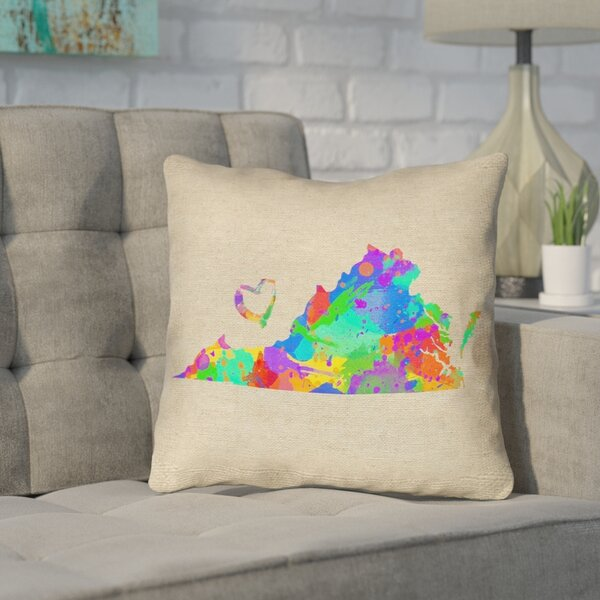 Sherilyn Virginia Love Outdoor Throw Pillow by Ivy Bronx