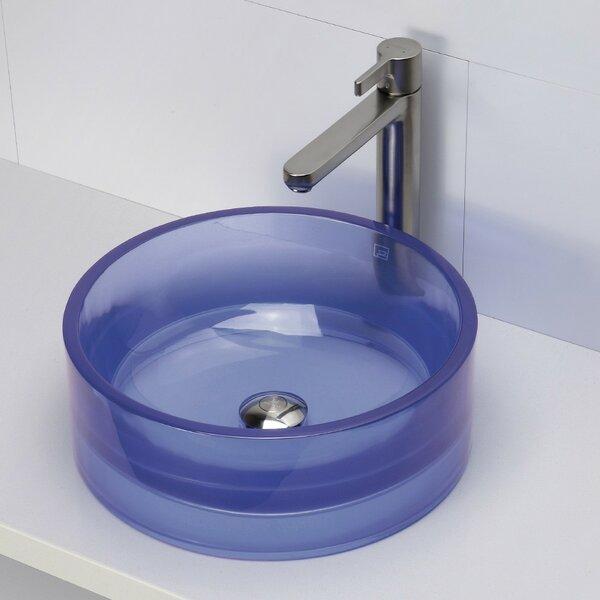 Lana Incandescense Plastic Circular Vessel Bathroom Sink by DECOLAV