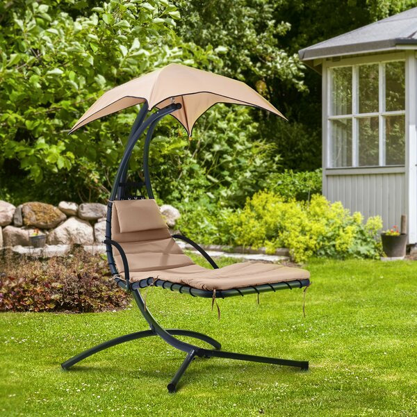 Kingsley Hanging Chaise Lounger with Stand