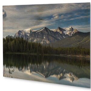 'Mountain Landscape' Graphic Art on Plaque by KAVKA DESIGNS