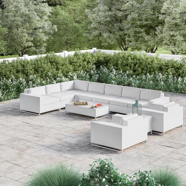 Menifee 11 Piece Sectional Seating Group with Cushions by Sol 72 Outdoor