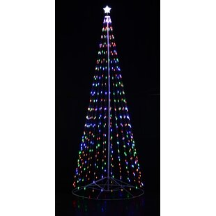 outdoor led cone tree
