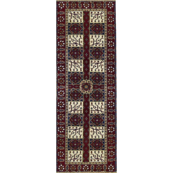 One-of-a-Kind Kazak Hand-Knotted Wool Ivory/Red Indoor Area Rug by Bokara Rug Co., Inc.