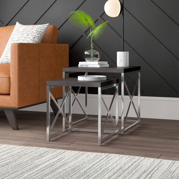 Outdoor Furniture Evalyn 2 Piece Nesting Tables